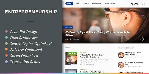 MyThemeShop Entrepreneurship WordPress Theme