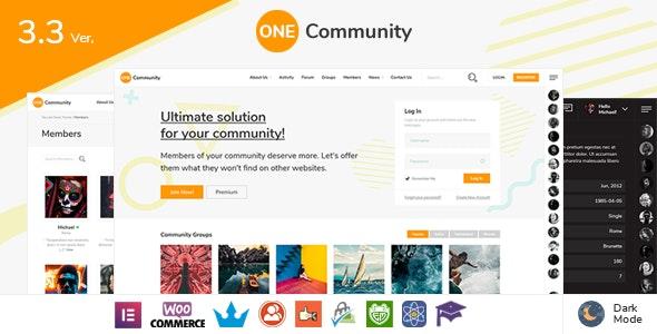OneCommunity - BuddyPress Nouveau Community Theme