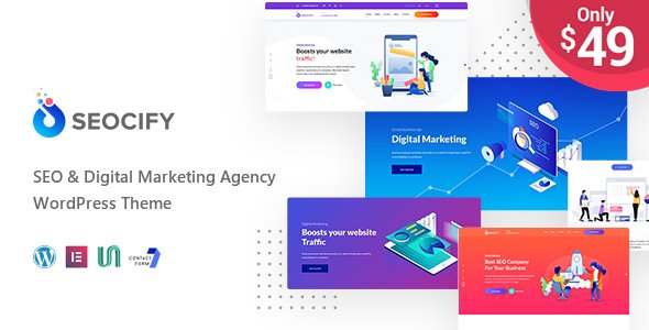 Seocify - SEO And Digital Marketing Agency WordPress Theme