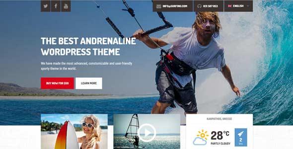 Shaka - A beach business WordPress theme