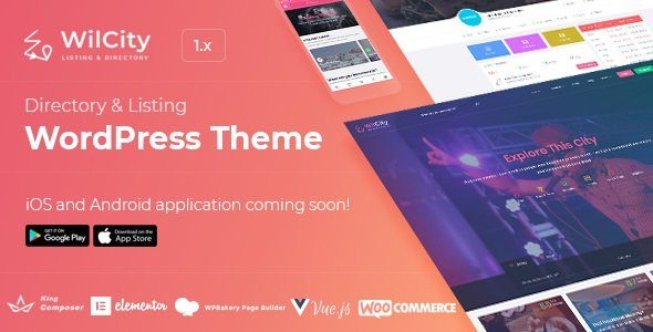 Wilcity - Directory Listing WordPress Theme (mobile app included)