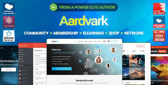 Aardvark - BuddyPress Membership & Community Theme