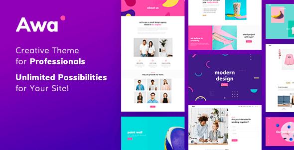 AWA - Portfolio Agency WordPress Theme