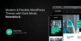 Newsblock - Modern WordPress Theme with Dark Mode