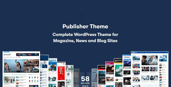 Publisher - Magazine Blog Newspaper and Review WordPress Theme