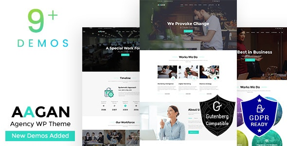 Aagan - Startup Business Agency WordPress Theme