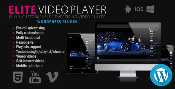 Elite Video Player - WordPress plugin Download