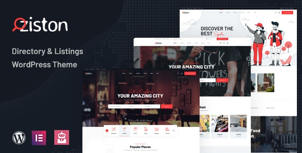 Ziston – Directory Listing WordPress Theme