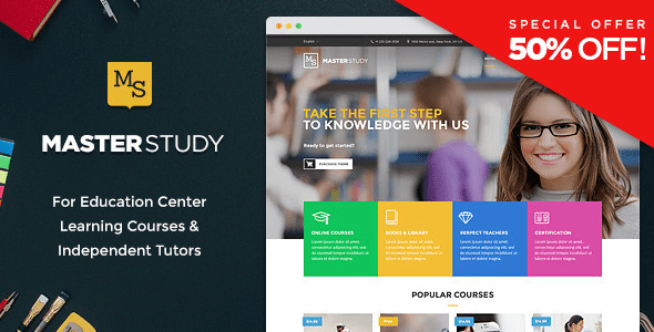 Masterstudy - Education WordPress Theme