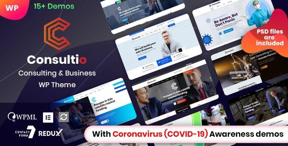 Consultio - Corporate Consulting WordPress Theme