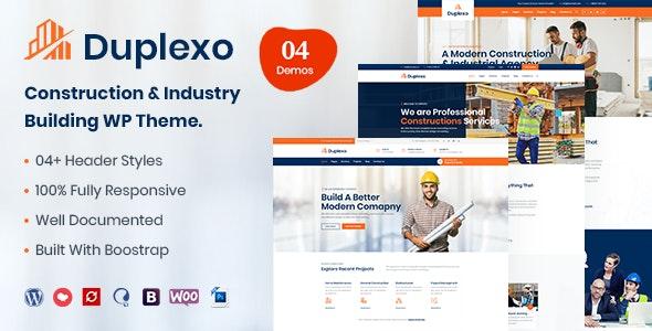 Duplexo - Construction Renovation WordPress Theme