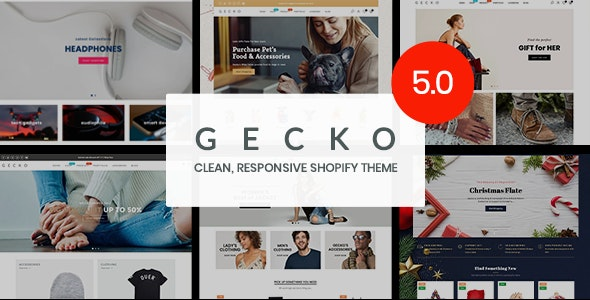 Gecko - Responsive Shopify Theme [+Patch] - RTL support