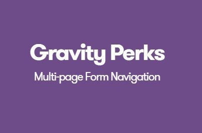 Gravity Perks Multi Page Form Navigation Add-On