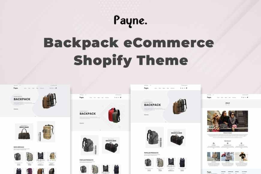Payne - Backpack eCommerce Shopify Theme