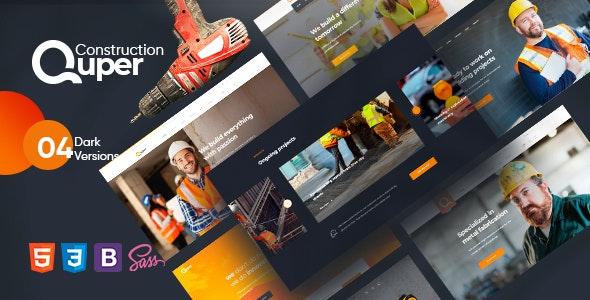 Quper - Construction HTML Template