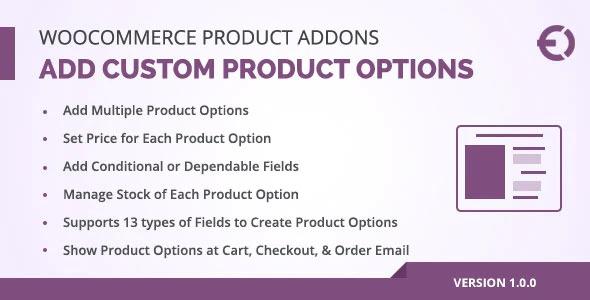 Woocommerce Custom Product +Addons