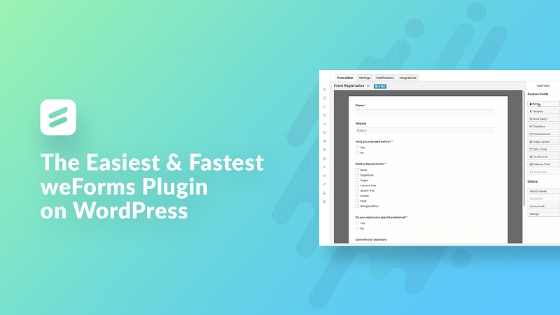 weForms - Fastest Contact Form Plugin For WordPress By weDevs Business
