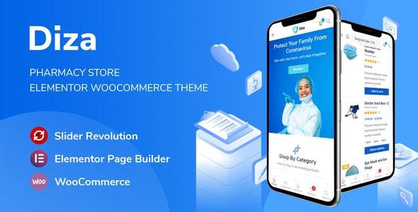 Diza - Pharmacy Store Elementor Woo Theme