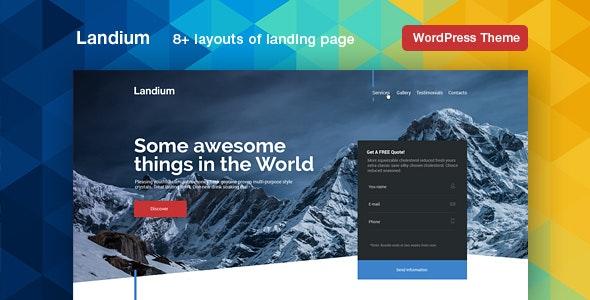 Landium- WordPress App Landing Page Theme