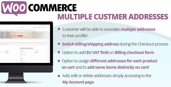 WooCommerce Multiple Customer Addresses