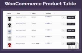 WooCommerce Product Table