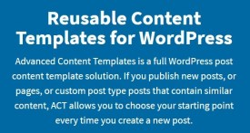 Advanced Content Templates for WordPress+ Addons