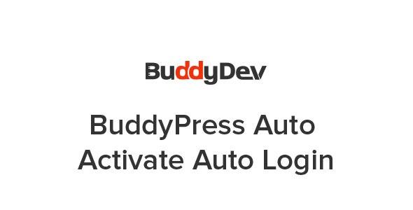 BuddyPress Auto Activate Auto Login