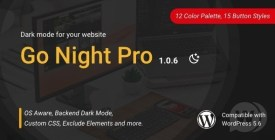 Go Night Pro dark mode / night mode WordPress plugin
