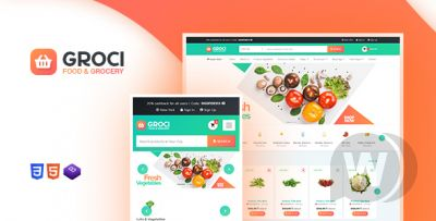 Groci - template for online food store WordPress