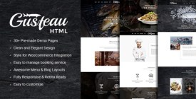 Gusteau - Elegant Food - Coffee and Restaurant WordPress Theme