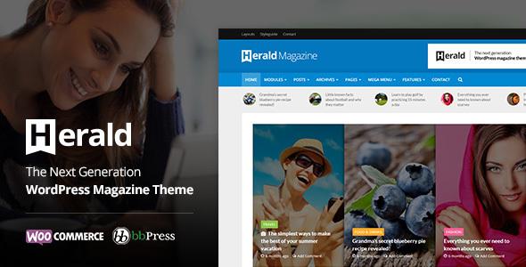 Herald - Newspaper - News Portal WordPress Theme
