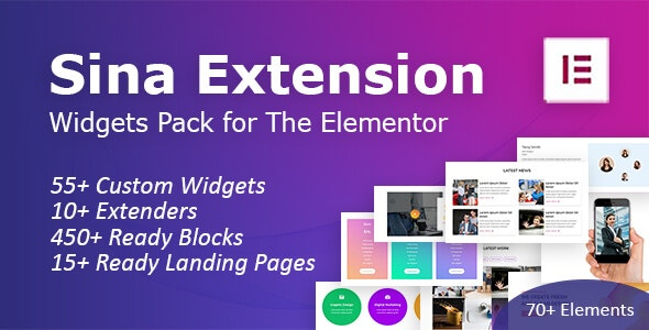 SEFE - Sina Extension for Elementor