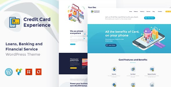 Credit Card Experience Credit Card Company and Online Banking WordPress Theme