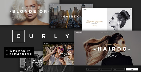 Curly A Stylish Theme for Hairdressers and Hair Salons GPL