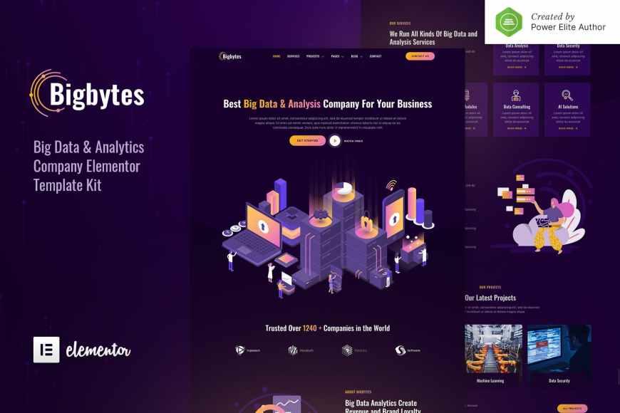 Bigbytes - Big Data - Analytics Company Elementor Template Kit