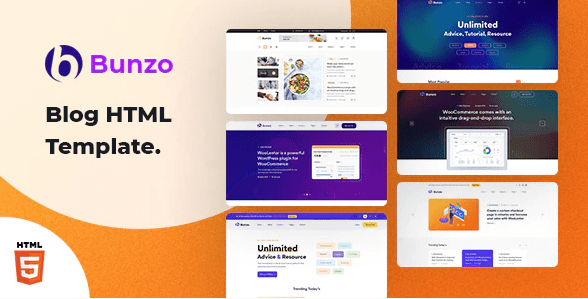 Bunzo - Blog Bootstrap HTML Template