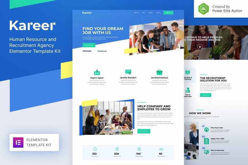 Kareer - Human Resource - Recruitment Agency Elementor Template Kit