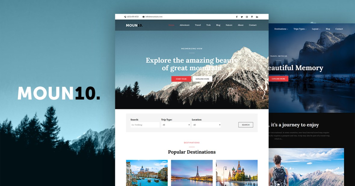 Moun10 Pro - Theme Palace WordPress Theme