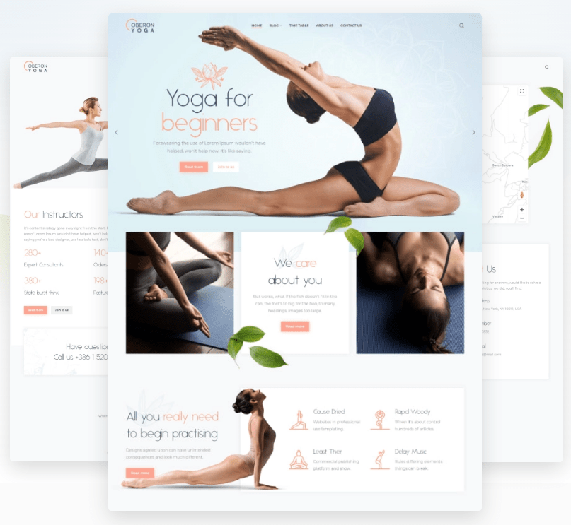 Oberon - Corporate Theme For Yoga And Health Care
