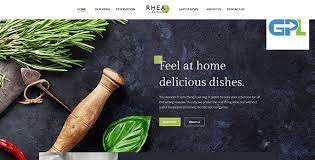 Rhea - Restaurants and Reservations Corporate Theme