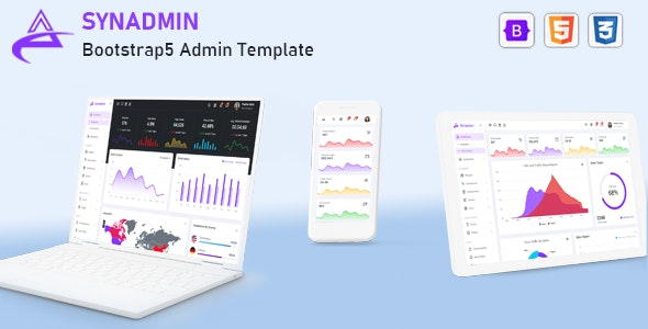 Synadmin - Bootstrap Admin Template April