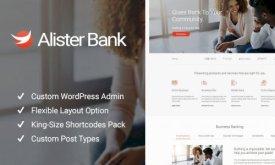 Alister Bank - Credits - Banking Finance WordPress Theme