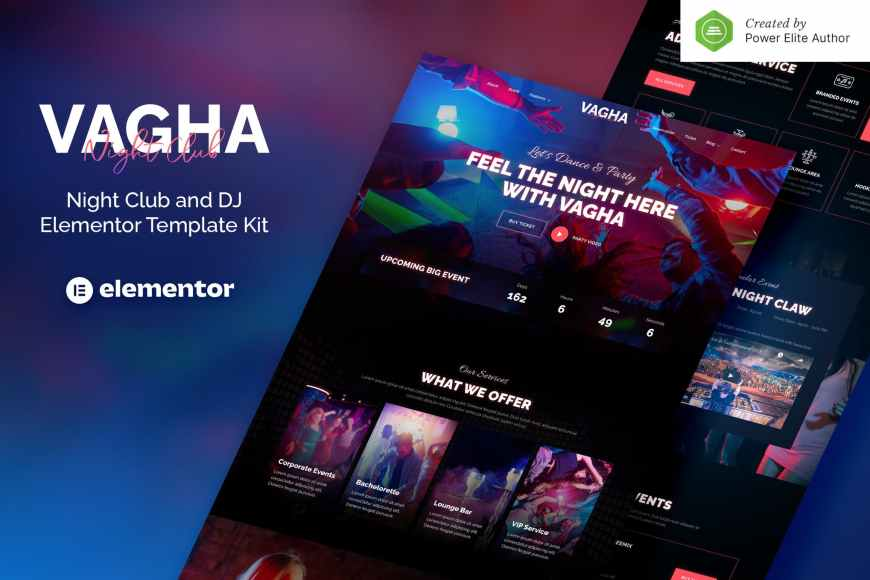 Vagha - Night Club - DJ Elementor Template Kit