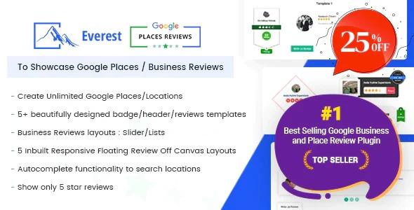 Everest Google Places Reviews - WordPress Plugin To Showcase Google Places