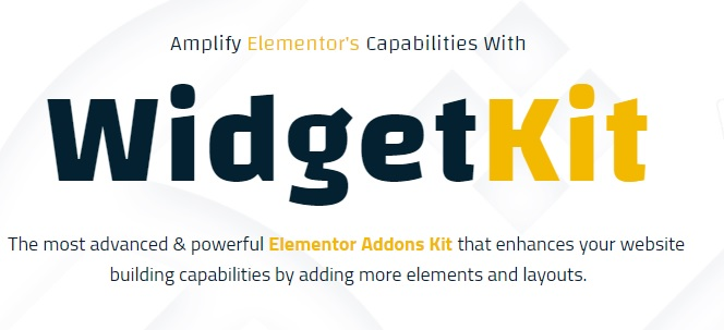WidgetKit Pro Huge Collection of Pro Quality Element For Elementor