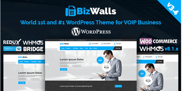 BizWalls   Responsive VOIP - Virtual Phone Business WordPress Theme