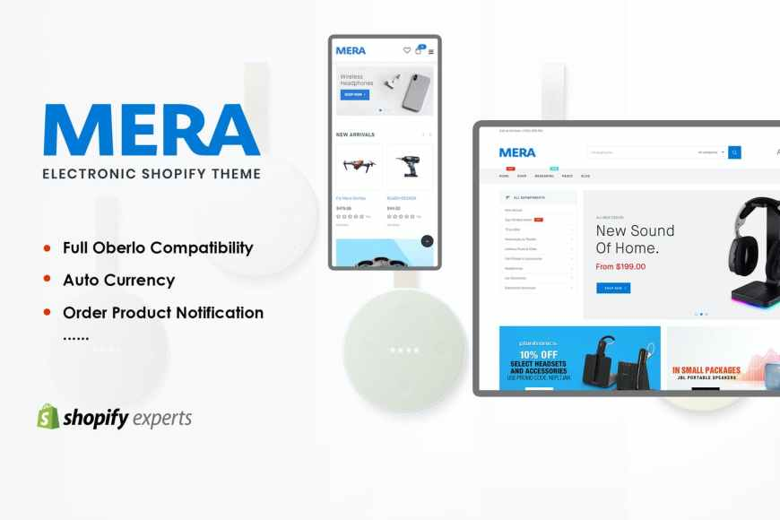 Mera - Electronics Responsive Shopify Theme