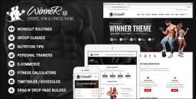 Winner - Fitness - Gym WordPress Theme