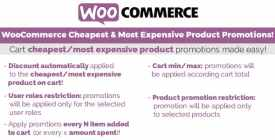 WooCommerce Cheapest - Most Expensive Product Promotions!