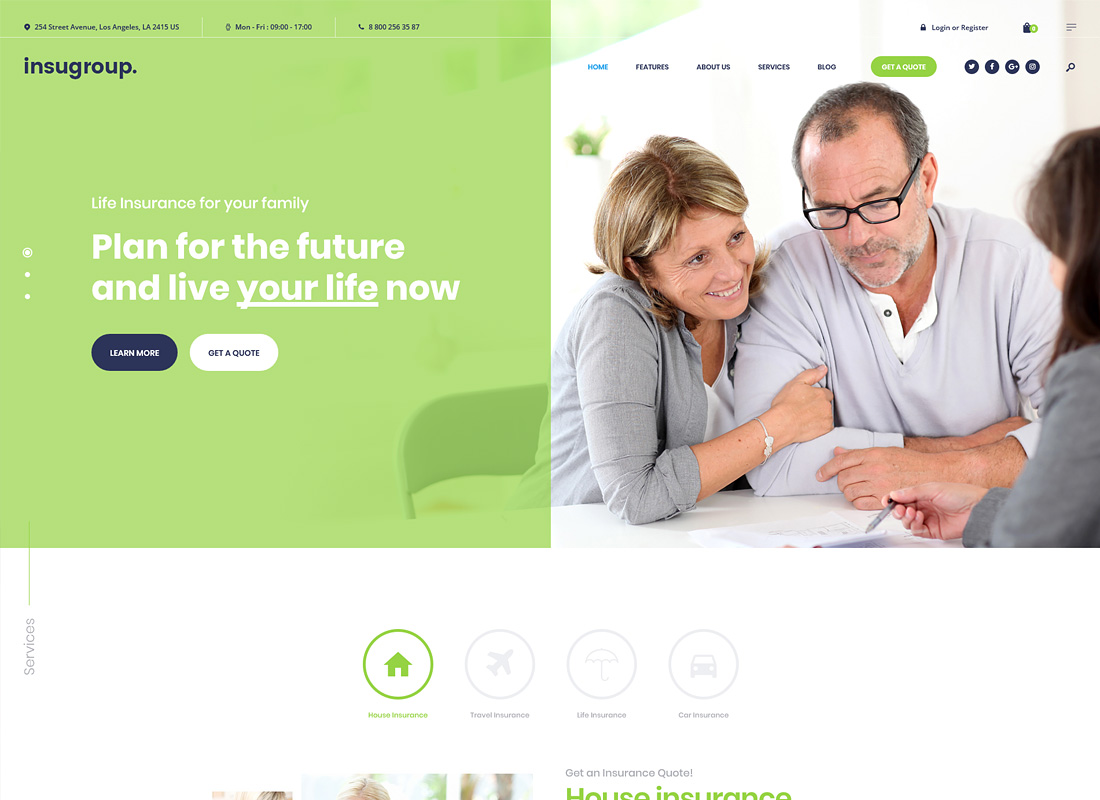 Insugroup - A Clean Insurance & Finance WordPress